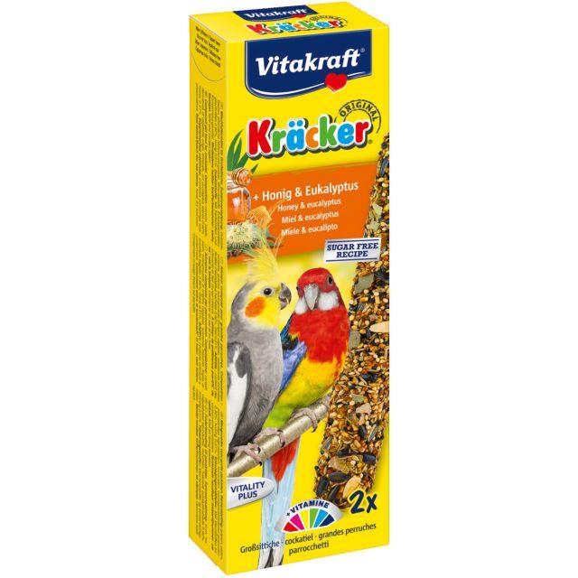 Vitakraft Kracker Honing, Ecalyptus Valkparkiet - 2 in 1