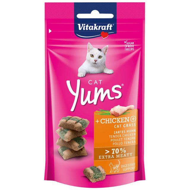 Vitakraft Cat Yums met Kip en Kattengras -40 gram