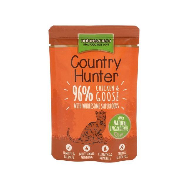 Nature's Menu Cat Country Hunter Pouch Kip & Gans - 85 gr