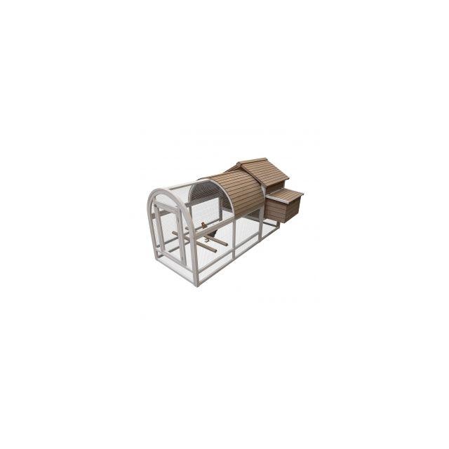 Woodland Kippenhok Ark 2 Bruin -198x91,5x115cm