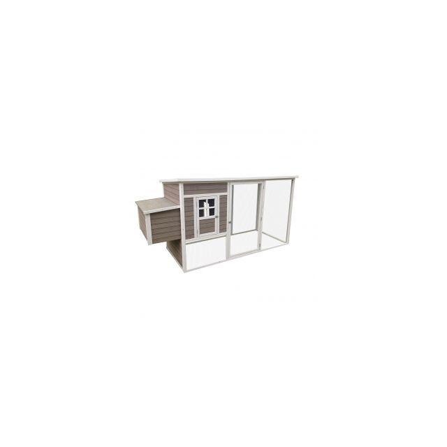 Woodland Kippenhok Molly Cottage Taupe -250x99x127cm