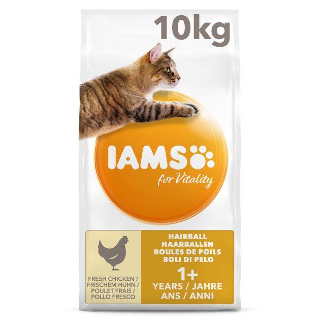 Iams Cat Adult Hairball Control Kip - 10 kg