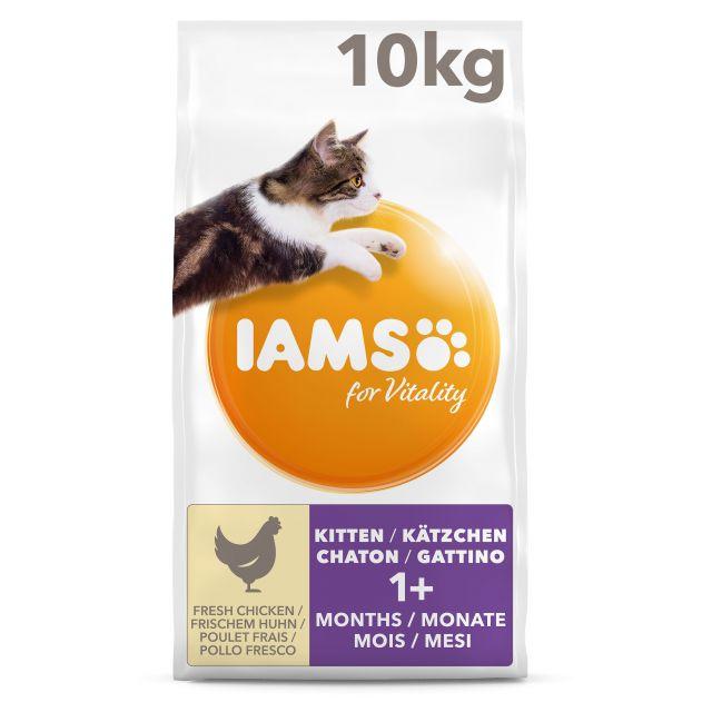 Iams Cat Kitten & Junior Chicken - 10 kg