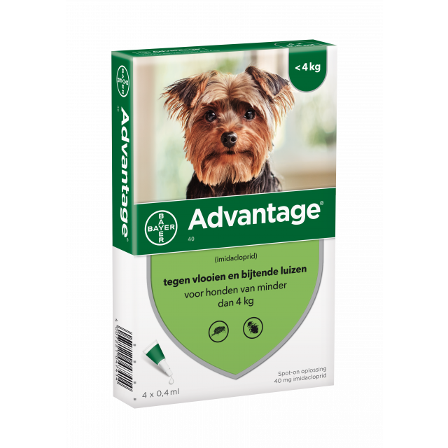 Advantage Hond 40 tot 4 kg 4 - Pipetten