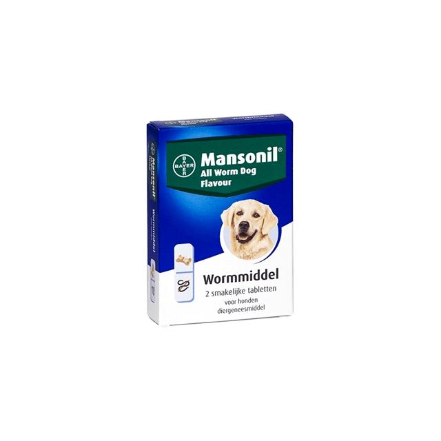 Mansonil All Worm Dog Tasty Bone - 2 Tabletten