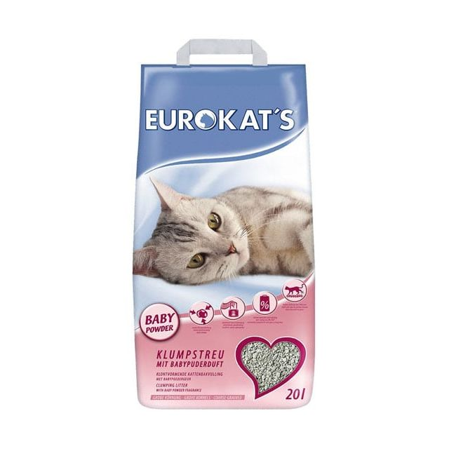 Eurokat's Kattenbakvulling  Met Babypoedergeur -20 liter