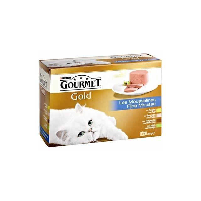 Gourmet Gold 12-Pack Fijne Mousse - 12x85 gr