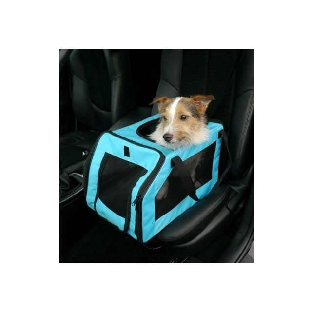 Rosewood Pet Autozitje & Transport Tas Aqua Blauw Medium - 51x33x30,5 cm