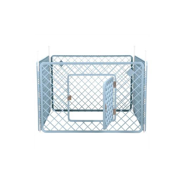 Puppyren - 4 Panelen Blauw - 90x90x60 cm