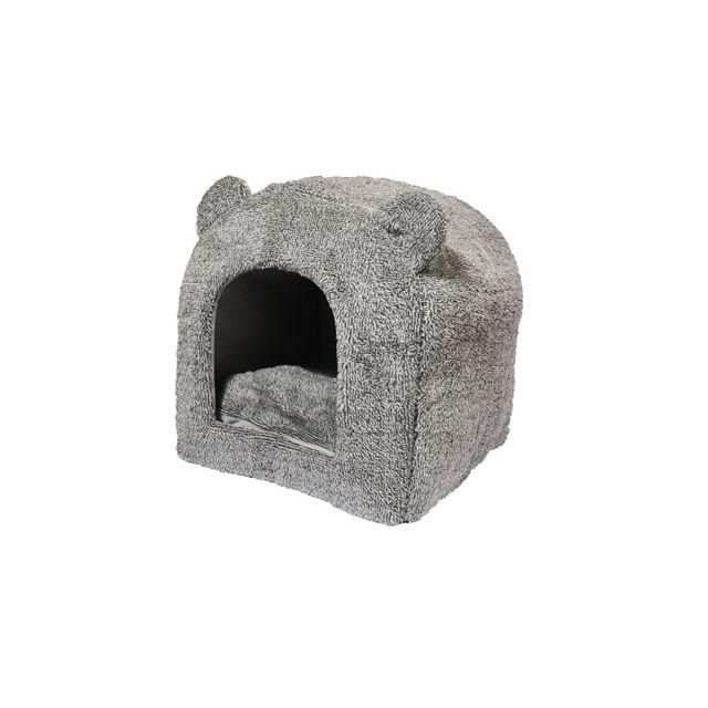 Rosewood Teddybeer Kattenmand Iglo Grijs -38x38x40 cm
