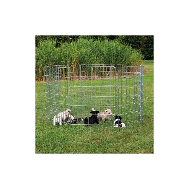 Trixie Natura Puppyren Gegalvaniseerd Metaal - 8 Panelen /Dia 154 cm 61x91 cm