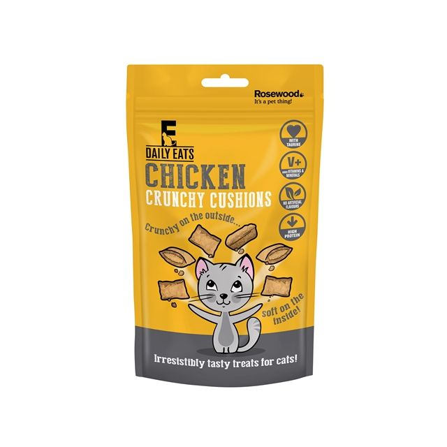Rosewood Leaps&Bounds Crunchy Chicken Cushions -60 gram