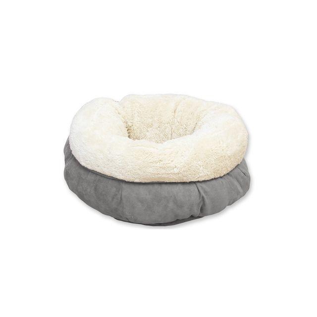 Afp Lamswol Donut Bed Grijs -45x45x25 cm