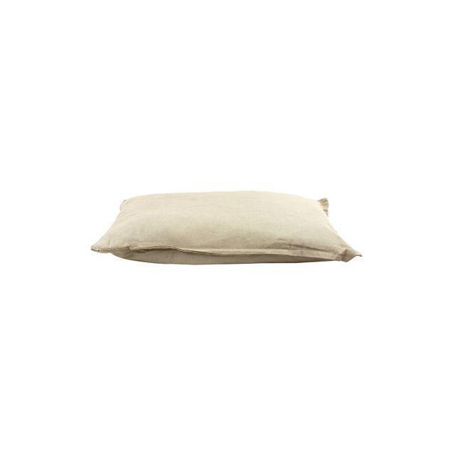 Woefwoef Hondenkussen Comfort Panama Linnen Grijs -100x70 cm