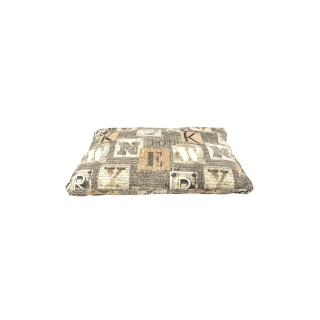 WoefWoef Hondenkussen Lounge Luxe New York Taupe -125x80x12cm
