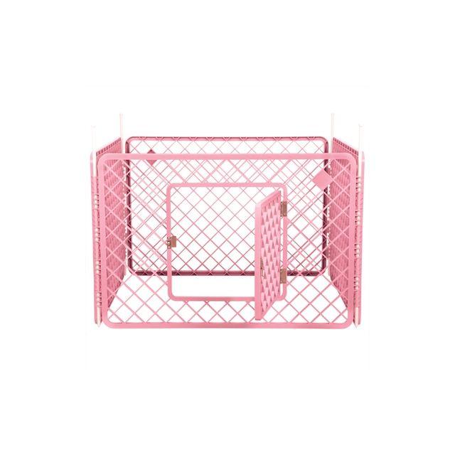Puppyren 4 Panelen Roze -90x90x60 cm