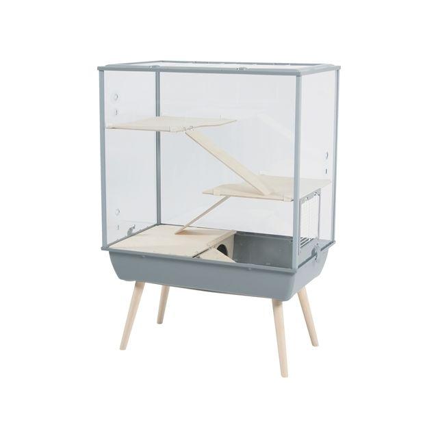 Zolux Knaagdierkooi Nevo Royal Plexiglas Grijs -78x48x109 cm