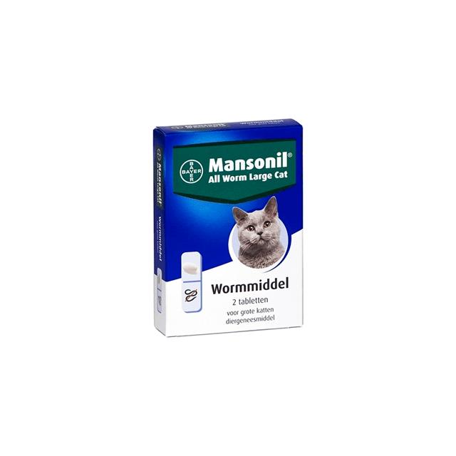 Mansonil All Worm Large Cat - 2 Tabletten