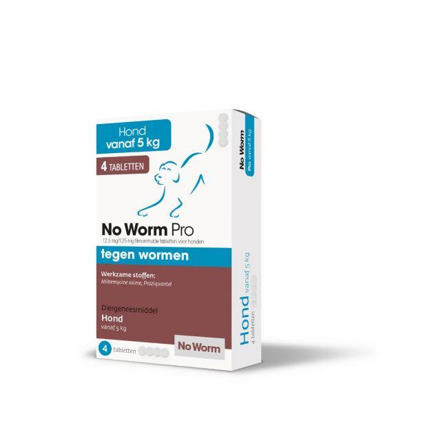Exil No Worm Pro Honden Large 4 Tabletten (100 kg Lg)
