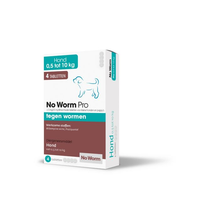 Exil No Worm Pro Kleine Hond & Puppy  4 Tabletten (- 20 kg Lg)